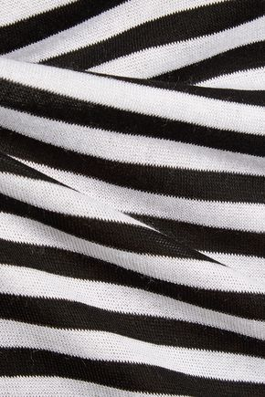 SPLENDID Striped stretch-jersey tank