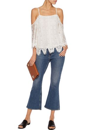 TART COLLECTIONS Dariela cold-shoulder corded lace top