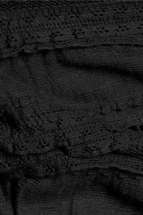 CINQ À SEPT Cari lace and cotton-blend top