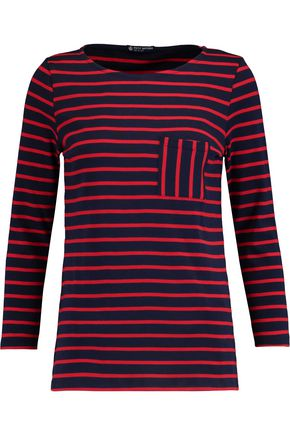 PETIT BATEAU Striped cotton-jersey top
