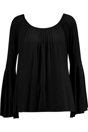 BAILEY 44 Off-the-shoulder gathered jersey top