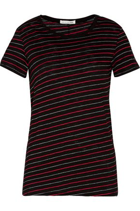 RAG & BONE Jasper striped cotton-blend T-shirt