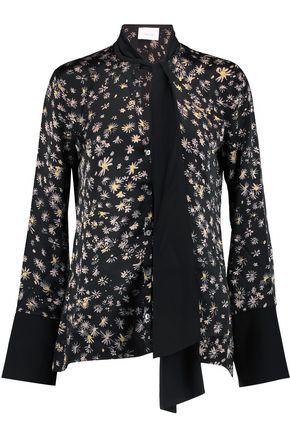 CINQ À SEPT Aster Rowan tie-front silk top