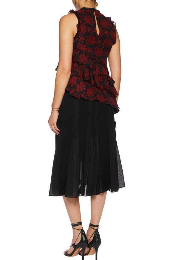 Zaire ruffled layered silk top | CINQ À SEPT | Sale up to 70% off | THE  OUTNET