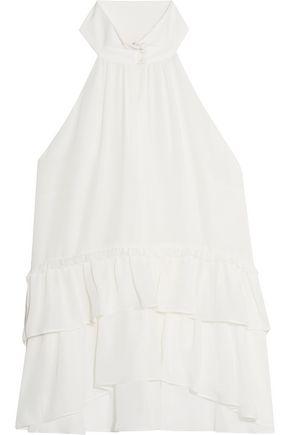 CINQ À SEPT Nanine ruffled silk-georgette blouse