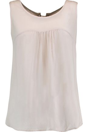 VELVET by GRAHAM SPENCER Lace-up voile top