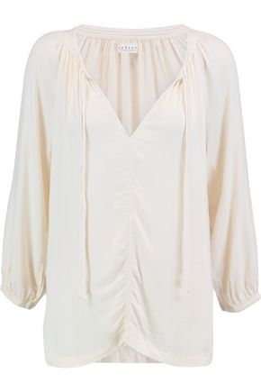 VELVET by GRAHAM & SPENCER Ruched jersey top