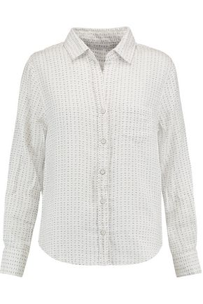 VELVET by GRAHAM SPENCER Printed cotton-muslin shirt