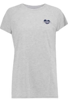 ZOE KARSSEN Embroidered cutout cotton and modal-blend T-shirt