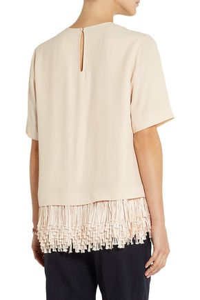 STELLA McCARTNEY Honore fringed crepe top