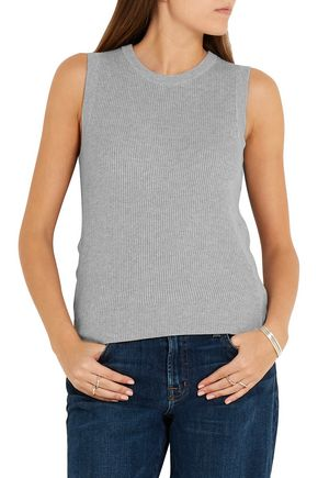 EQUIPMENT FEMME Bay ribbed cotton and cashmere-blend tank