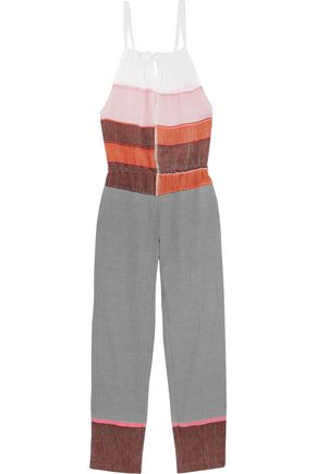 LEMLEM Eve color-block cotton-blend jumpsuit