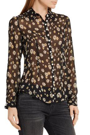 M.I.H JEANS Printed silk-georgette shirt