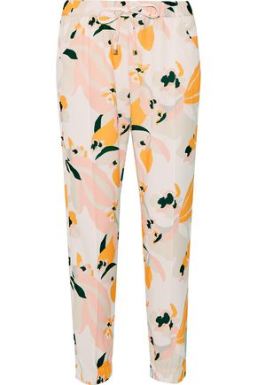 HEIDI KLEIN Honolulu printed crepe tapered pants