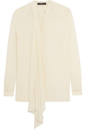 ETRO Draped silk-georgette blouse