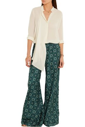 ETRO Draped silk-georgette blouse