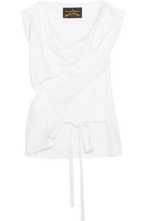 VIVIENNE WESTWOOD ANGLOMANIA Twisted cotton-poplin top