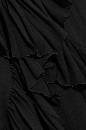 ROBERTO CAVALLI Ruffled silk-georgette top