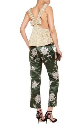 ROCHAS Bow-embellished brocade top