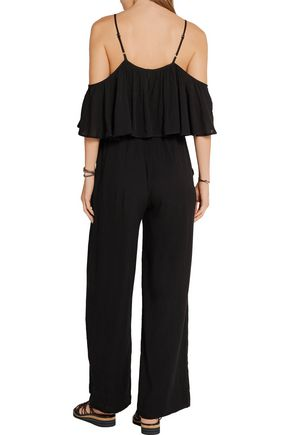 MARA HOFFMAN Off-the-shoulder crinkled-crepe jumpsuit