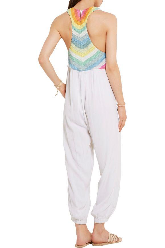 c4e88b0df727b Crochet-paneled crinkled-voile jumpsuit | MARA HOFFMAN | Sale up to ...