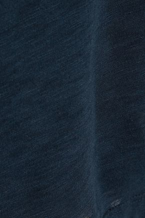 SPLENDID Crossover-back slub Supima cotton and Micro Modal-blend tank
