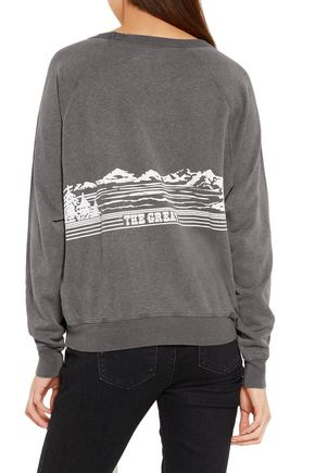 THE GREAT. Printed cotton-blend terry sweatshirt
