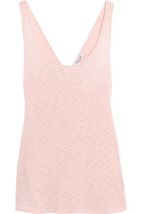 SPLENDID Crossover-back slub Supima cotton and Micro Modal-blend tank