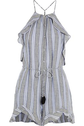 ZIMMERMANN Zephyr ruffled cotton and linen-blend playsuit