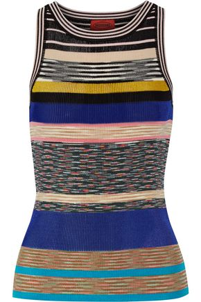 MISSONI Striped crochet-knit tank