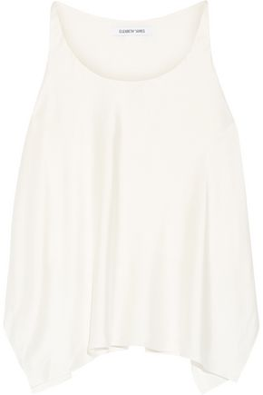 ELIZABETH AND JAMES Shelley asymmetric brushed-silk tank