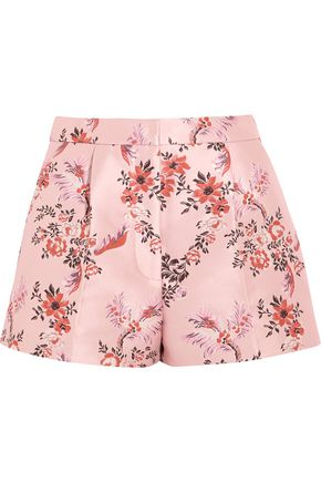 STELLA McCARTNEY Pleated brocade shorts