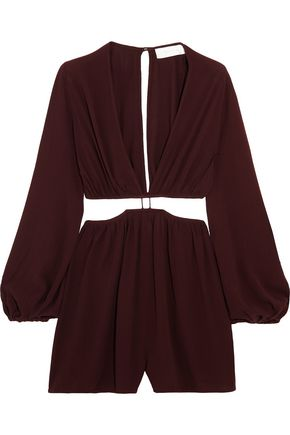 ZIMMERMANN Cutout crepe playsuit