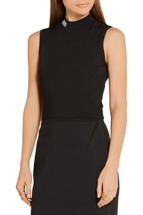 GIANNI VERSACE Stretch-jersey turtleneck top