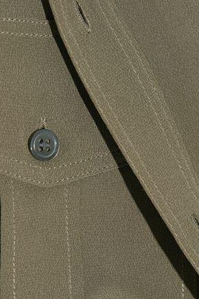 THEORY Damaris silk crepe de chine blouse