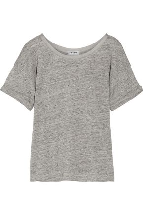 FRAME Le Slouchy slub linen T-shirt