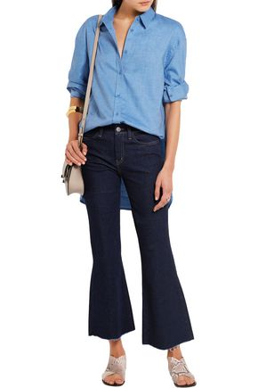 TIBI Stretch-cotton chambray shirt