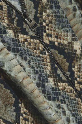 TOM FORD Snake-print silk-georgette blouse