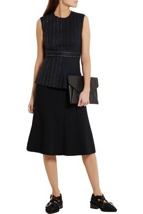 CEDRIC CHARLIER Pleated wool-blend top