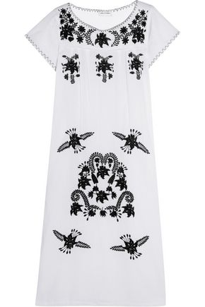 SENSI STUDIO Embroidered cotton maxi dress