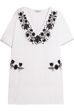 SENSI STUDIO Embroidered cotton mini dress