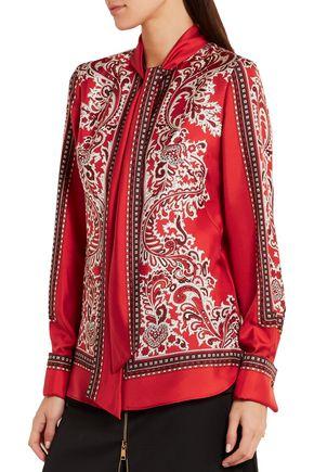 ALEXANDER MCQUEEN Paisley-print silk-twill blouse