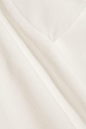 ANTONIO BERARDI Split-back stretch-crepe top