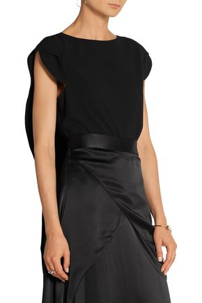 ANTONIO BERARDI Split-back stretch-crepe top