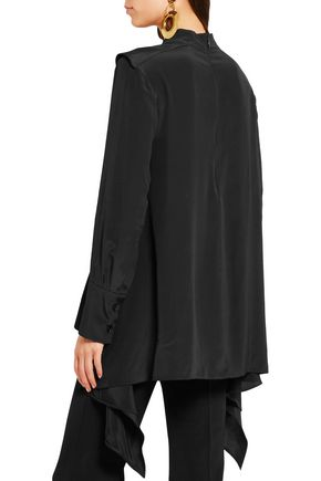 MARNI Draped crepe top