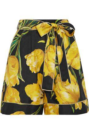 DOLCE & GABBANA Printed silk-twill shorts