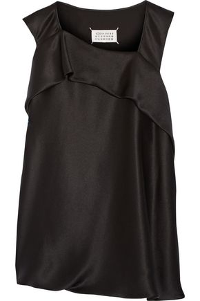 MAISON MARGIELA Draped silk-charmeuse top