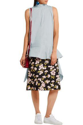 MARNI Draped cotton top