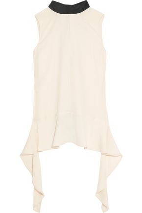 MARNI Ruffled crepe blouse
