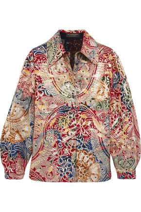 BURBERRY Metallic jacquard shirt